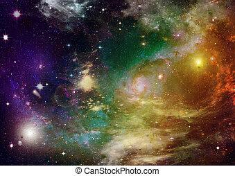 daleki, precz, galaktyka