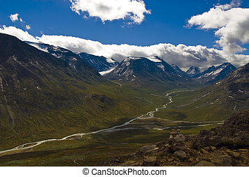 Mountains and valleys in Jotunheimen, norway - Jotunheimen...