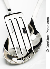 utensil - silver fork and spoon close up shoot