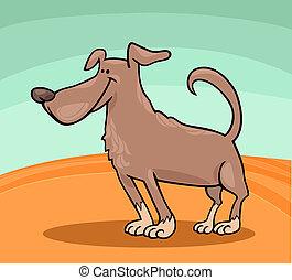 cute dog cartoon illustration
