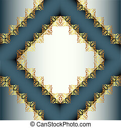background frame with gold ornament