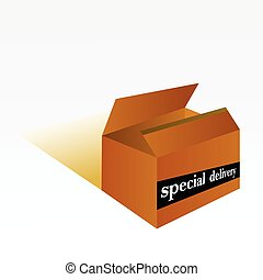special delivery box vector illustration