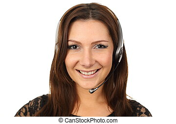 Happy callcenter agent - Friendly callcenter agent smiling
