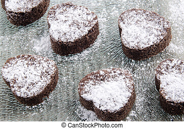 valentine cookie with powdered sugar - valentine cookie with...