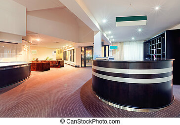 Hotel reception - Interior of a hotel, architectural design...