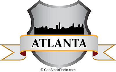 Atlanta crest with high-rise buildings skyline