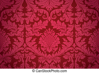 Old wallpaper Vector - Illustration of a historical seamless...
