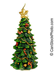 Christmas tree abstract stylized