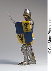 toy knight - a toy knight made of plastic in grey back