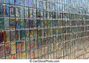Iridescent tile 2 - A large and beautiful mosaic of...