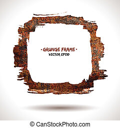 Trendy grunge vector frame. Grunge background. Watercolor...