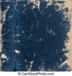 Aged paper page - blue grunge background
