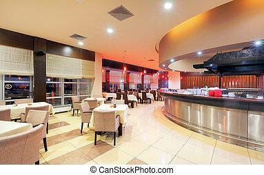 Restaurant interior - Modern restaurant interior, part of a...