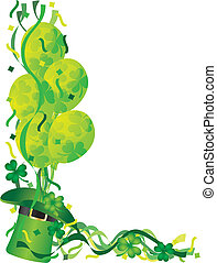St Patricks Day Balloons with Confetti Illustration