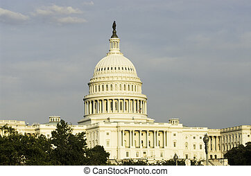 United States Capitol Building in Washington, DC. Seat of...