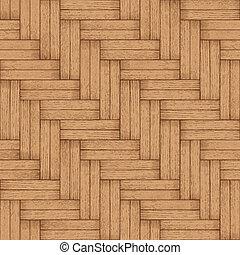 Wooden parquet floor - vector seamless texture