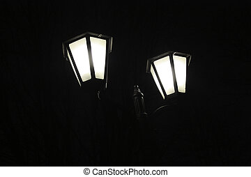 Streetlamp - Lantern in the night park