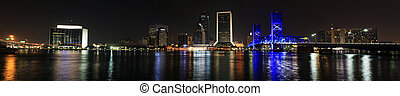 Jacksonville Skyline at night - Jacksonville Florida Skyline...