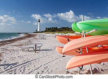 Cape Florida lighthouse in Bill Baggs - Cape Florida...