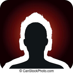 double head profile silhouette