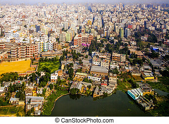 Dhaka, Bangladesh - Aerial of Dhaka, the Capital of...