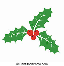 Holly berry - Christmas holly berry - vector illustration