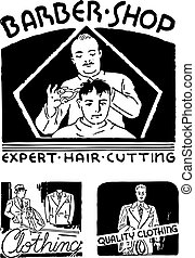 Vector Retro Barbershop Graphics