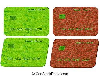Bank card - Green and red bank card