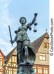 lady justice in Frankfurt - famous lady justice in Frankfurt...
