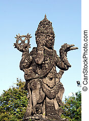Vishnu - Monument Vishnu on the square in Denpasar, Bali...