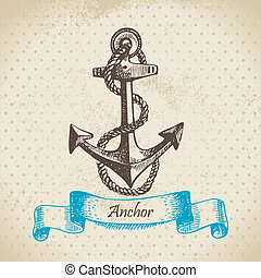 Anchor. Hand drawn illustration