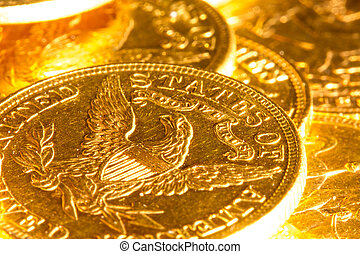 American gold coins. - Gold coins treasure