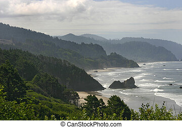West coast - The scenery of the west coast of the ocean