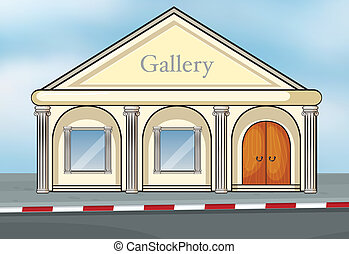 A gallery house - Illustration of a gallery house