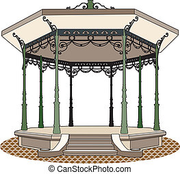 Bandstand romantic - Old bandstand, 1900 style
