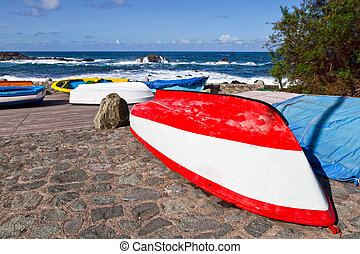 Rowboats in Taganana Coast, Tenerife