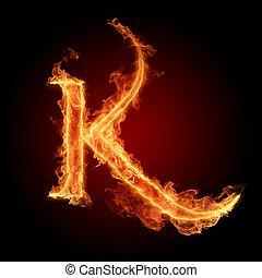 Burning Letter K