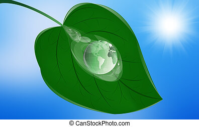 Green clean planet.Ecology concept
