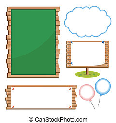 Set of school board blackboards