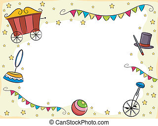 Circus Background - Background Illustration of Circus Items...