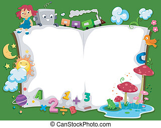 Storybook Background - Background Illustration of a...