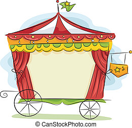 Circus Carriage - Illustration of a Circus Carriage