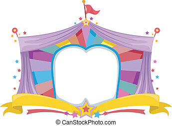 Circus Tent Banner - Illustration of a Circus Tent Banner