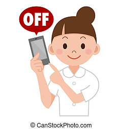young nurse - Switch on off your mobile device