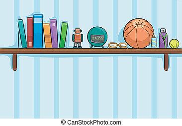 Boys Room Shelf