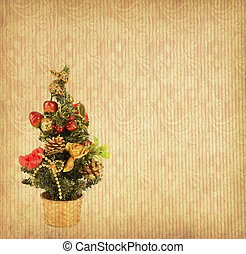 background with Christmas tree