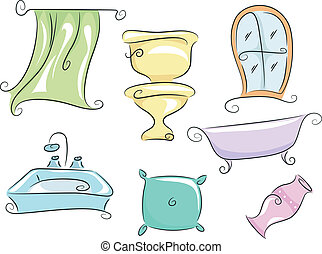 Home Furnishings - Illustration of Home Furnishings...