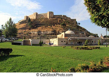 Old fortress on the hill in Gaziantep, Turkey