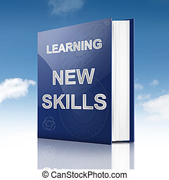 New skills concept. - Illustration depicting a book with a...