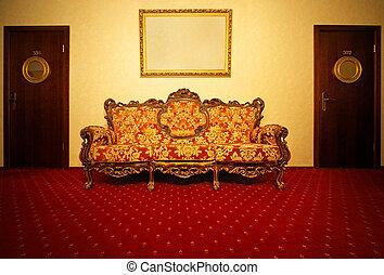 Vintage hotel interior